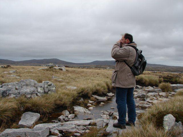 Lorenz en uno de sus viajes a las islas.
