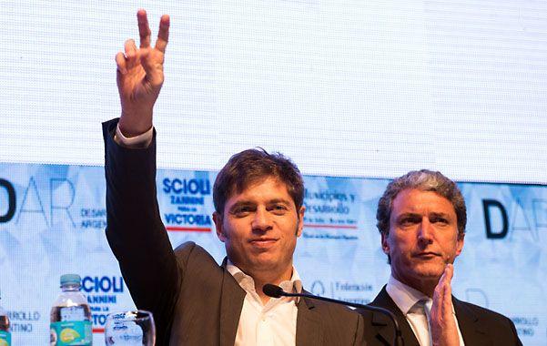 Kicillof participó de un acto de campaña. Se quejó de las promesas devaluatorias de la oposición.