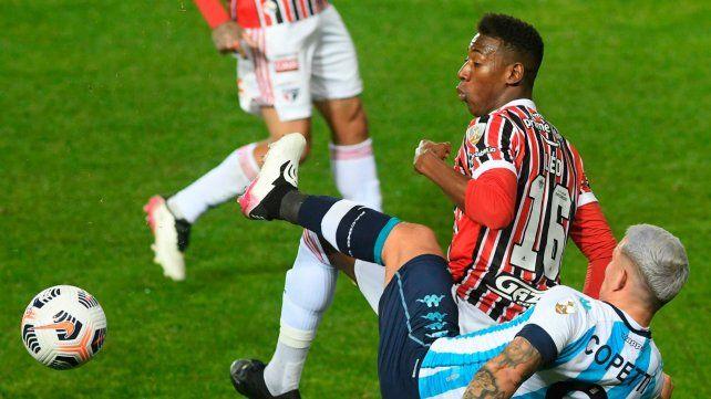 Racing cayó en Avellaneda y quedó eliminado de la Copa Libertadores