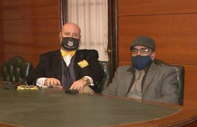 El abogado Luis Rossini y el empresario Leonardo Peiti