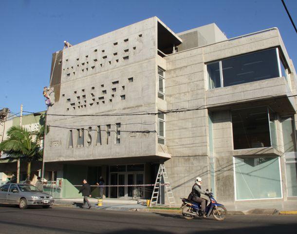 El frente del nuevo edificio de Amsafé.