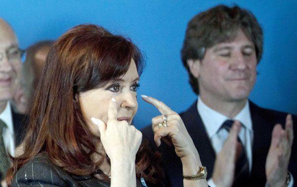 Gestos. Cristina aún no se refirió en público sobre la situación de Boudou.