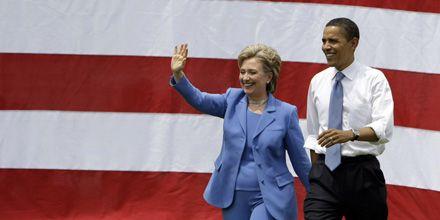 Por fin unidos: Obama y Clinton hicieron su primera aparición juntos