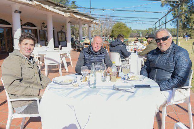Felipe Soraires, Armin Reutemann y Fernando Soraires.