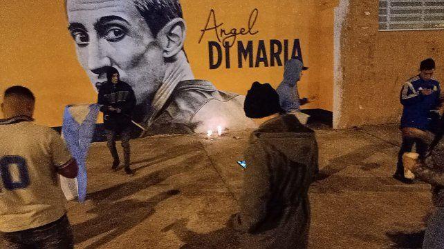 El mural de un Casildense que se convirtió en santuario por un día