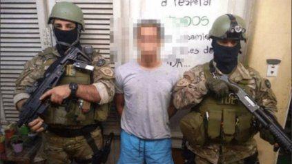 Miguel Lolo Laferrara, cuando lo detuvieron en La Paz, Entre Ríos, a siete años del crimen de un chico de 16 años en Rosario.