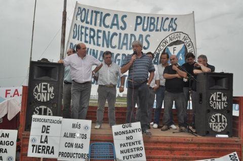 Eduardo Buzzi se molestó porque la Presidenta acusó a los ruralistas de retener la cosecha. (Foto archivo La Capital)