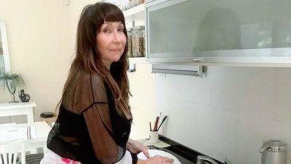 Moria Casán lavó los platos, se fotografió y los seguidores le reclamaron un detalle