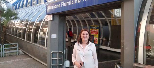 La intendenta Mónica Fein subió una fotografía a su cuenta de Twitter ni bien arribó a Roma.