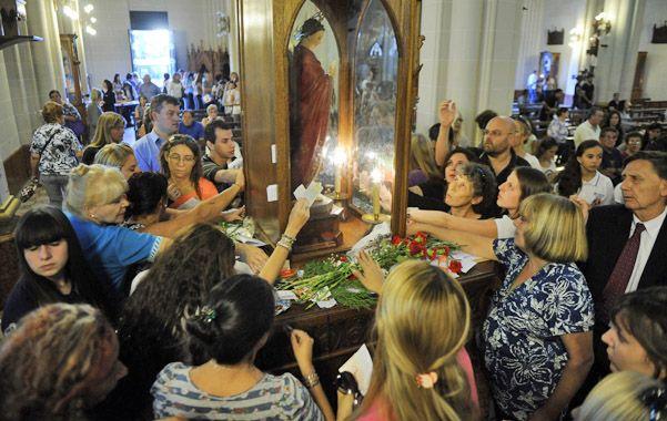 La imagen del patrono de las causas urgentes fue llevada a San Cayetano hace una década por el sacerdote Ernesto Longhi.