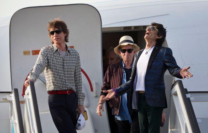 Un pedazo de historia. Los Stones arribaron hoy al aeropuerto José Martí.