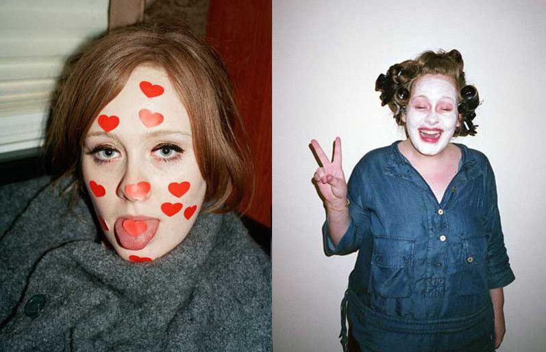 Una Adele muy diferente a la que sube a los escenarios.