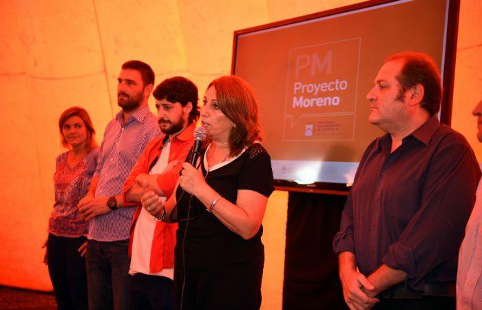 Fein presentó el proyecto acompañada por los ediles Pedro Salinas