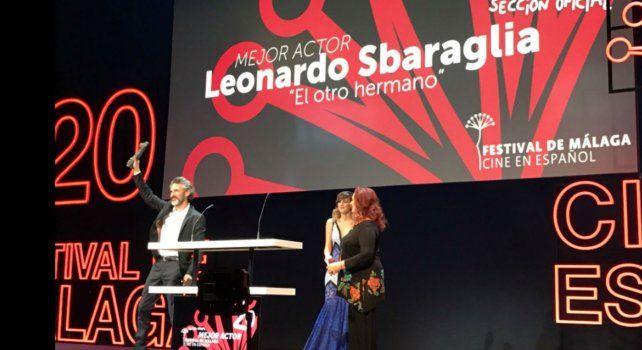 Leonardo Sbaraglia, premiado en el Festival de Cine de Málaga