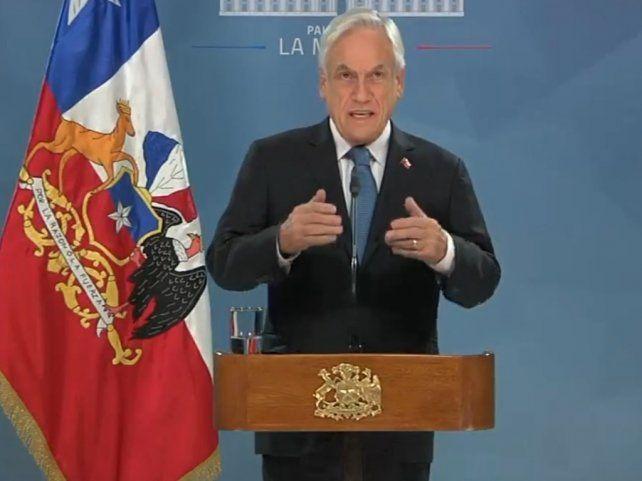 El presidente de Chile Sebastián Piñero se dirigió al país.