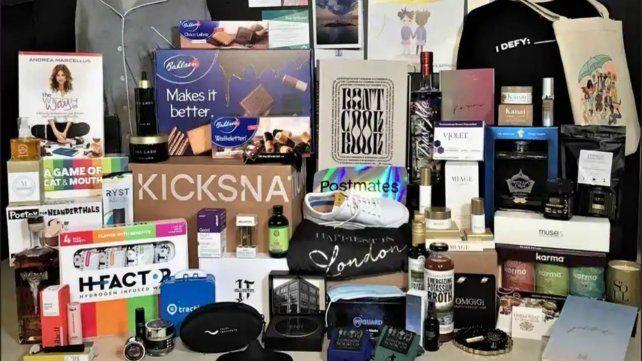 Bolsa de regalos que se llevarán los nominados realizadas por Distinctive Assets (Instagram: distinctive assets)
