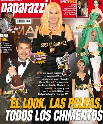 En Paparazzi: Toda la intimidad de los Premios Martín Fierro 2011