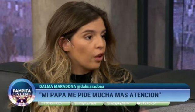 Dalma Maradona explicó los ehhhh y el origen del balbuceo que caracteriza a Diego