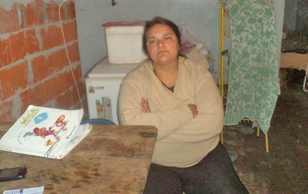 La madre. Montenegro asegura que tuvo a sus hijos el 13 de julio y que se los sustrajeron.