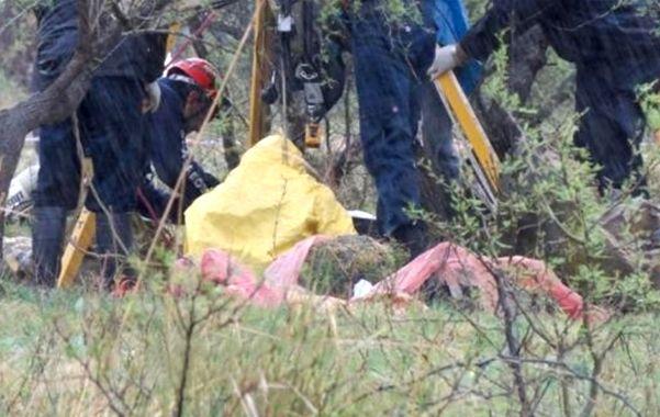 En un campo. El cuerpo de Celia Ortiz fue hallado el sábado a la mañana. (gentileza Reconquista Hoy)
