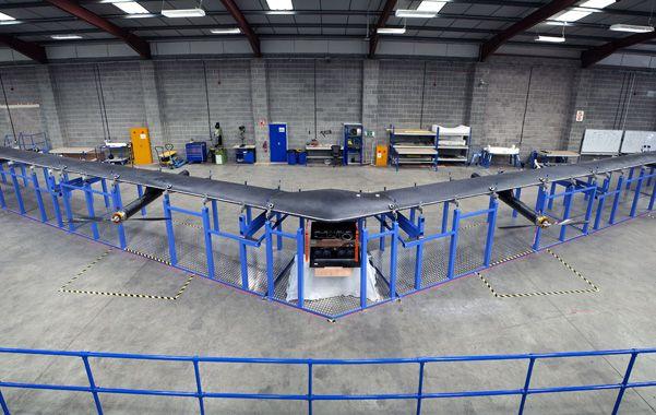 Presentación. El dron gigante está construido en fibra de carbono y es de una envergadura similar a un Boeing.