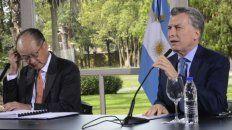 críticas. Macri cuestionó a la CGT en la conferencia que brindó con Jim Yong Kim, titular del Banco Mundial.