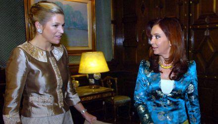 Encuentro chic: anoche Cristina recibió a la princesa Máxima