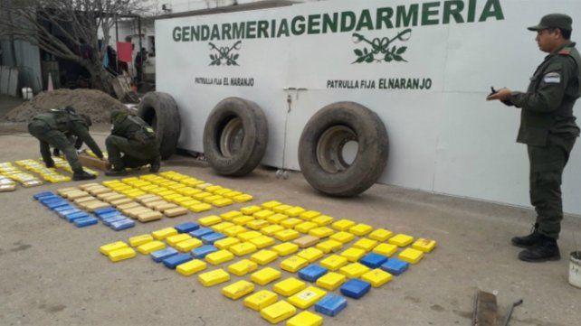 Incautan más de 280 kilos de cocaína en un control rutero
