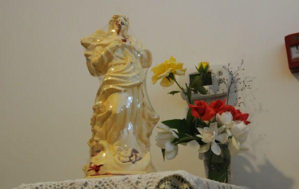 Los análisis determinaron que el líquido hallado en la Virgen de Salto es sangre