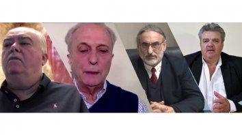 Panorama. Germán Manzano, Grigera Non, Luis Basterra y Ulises Forte, en uno de los paneles del seminario virtual organizado por el IPCVA.