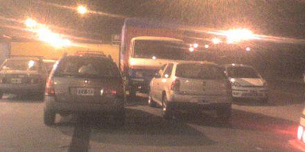 Descontrol en una estación de GNC de Mendoza y Circunvalación