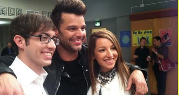Riky Martin deslumbró con su baile anoche en la famosa serie Glee