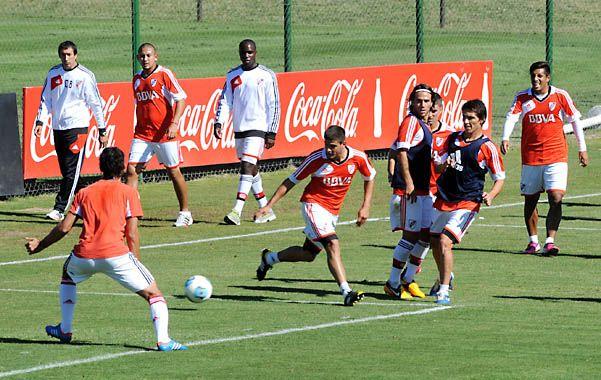 Millonarios. Los jugadores de River cumplieron con su entrenamiento en la previa al último partido del torneo Final.