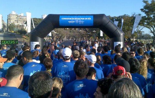 El maratón partió a las 9 desde el Monumento.