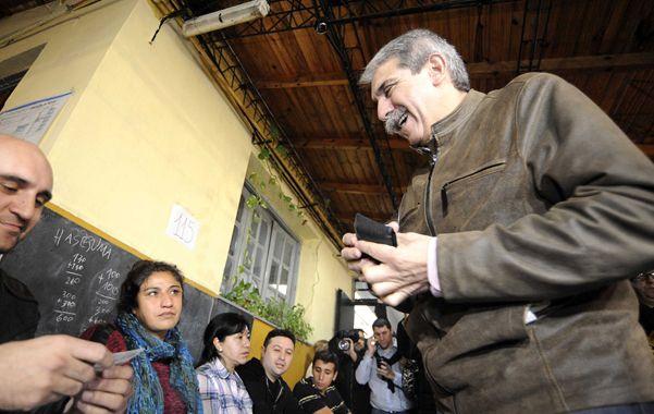 Optimismo. Para la victoria del jefe de Gabinete fueron clave los votos de las ciudades más populosas del conurbano.
