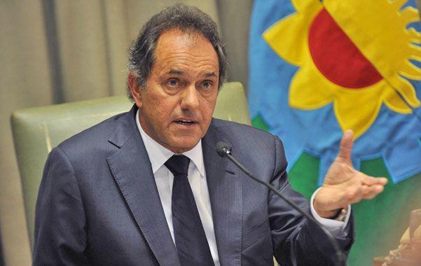 """Scioli espera que """"la gente"""" le dé la oportunidad de ser presidente."""