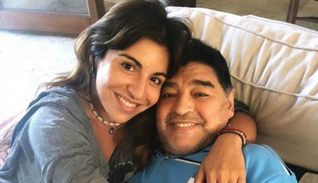 Una de las últimas fotos que se tomaron juntos Gianinna y Diego Maradona.