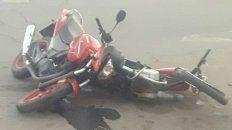 Producto del impacto, las motos quedaron casi enroscadas.