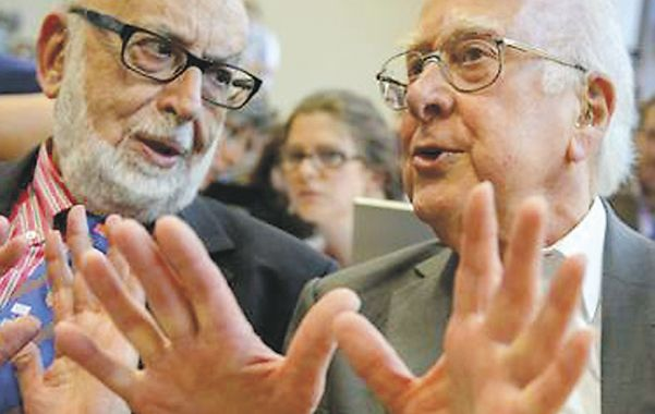 Descubridores. Francois Englert (izquierda) y Peter Higgs.