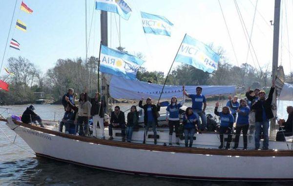 El velero que se hundió en Tierra del Fuego. (Foto de archivo)