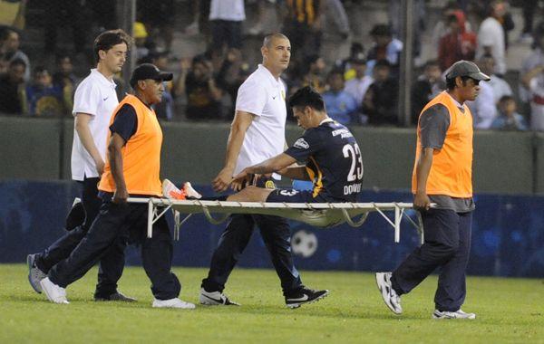 Nery no pudo completar la semi de la Copa Argentina por la lesión.