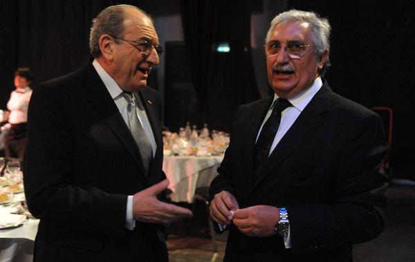 Elías Soso y su sucesor en la Asociación Empresaria