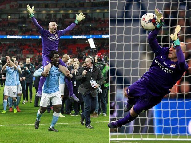 El arquero argentino atajó tres penales en la serie y fue el héroe de Manchester City.