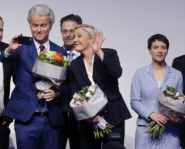 Afines. Los candidatos nacionalistas Wilders