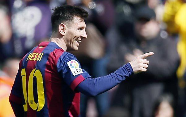 Treinta goles son los que tiene Messi en la liga. Comparte el tope de la tabla con Cristiano Ronaldo
