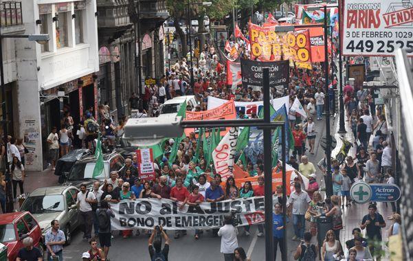 En alerta. La CTA marchó en diciembre contra las políticas económicas del gobierno de Mauricio Macri.