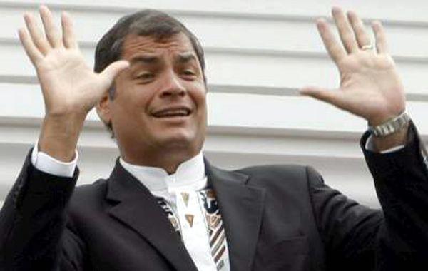 El presidente ecuatoriano, Rafael Correa, arribó a Argentina en visita oficial