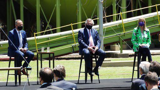 El presidente, Alberto Fernández, visitó en diciembre del año pasado la planta de Syngenta en Venado Tuerto.