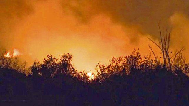 Postal repetida. La quema de pastizales en la zona de islas frente a Rosario lleva varios años sin solución