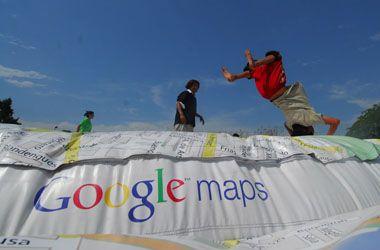 Los chicos saltaron la ciudad en la presentación del mapa virtual Google